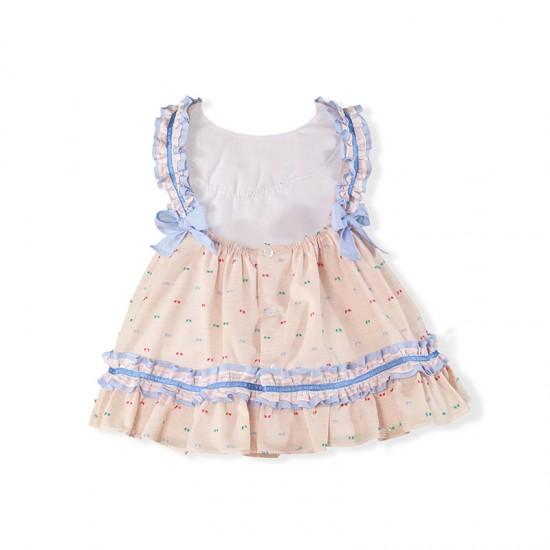 Нежна рокличка със сини къдрички