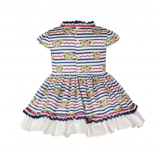 Цветна рокля с пандела