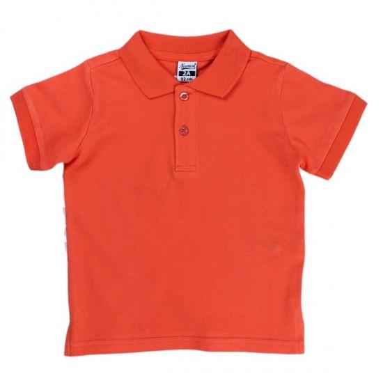 Блуза с якичка в оранжево