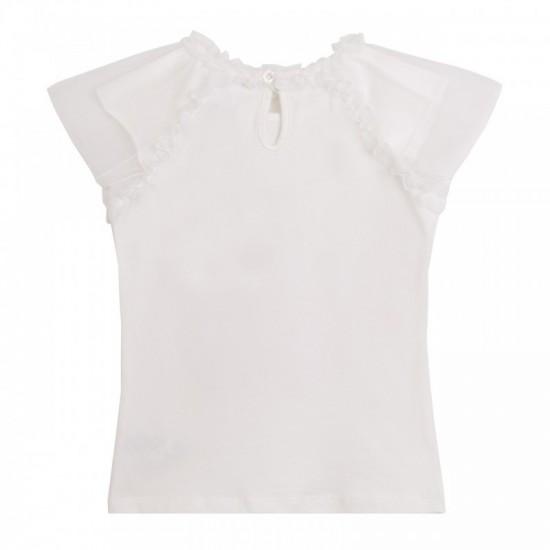 Блуза с ръкави от тюл