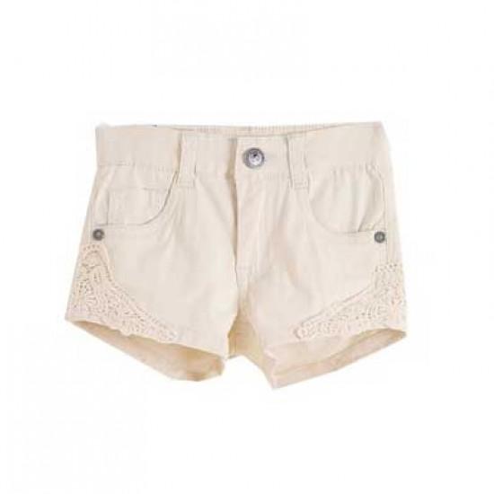 Къси панталонки с бродерия