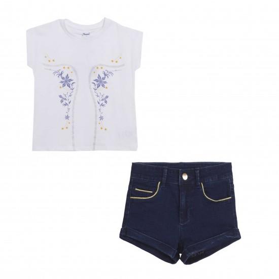 Комплект блуза и къс панталон