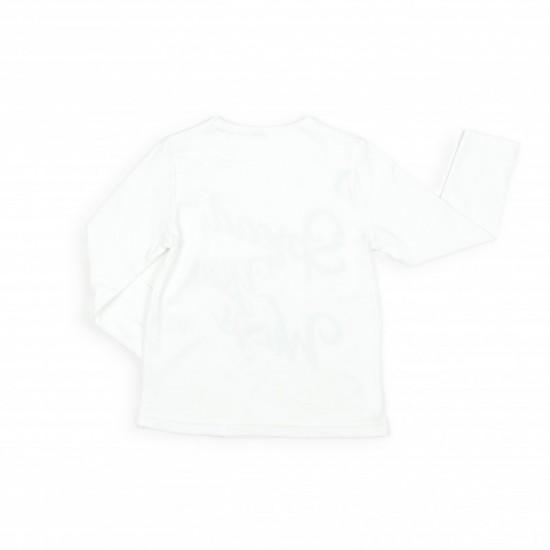 Блуза с дълъг ръкав и надпис